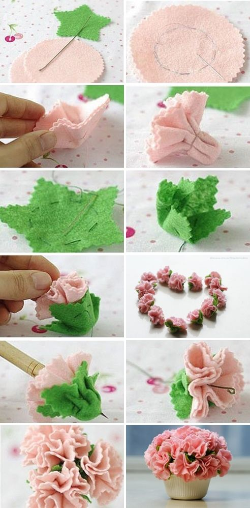 tutorial flores feltro