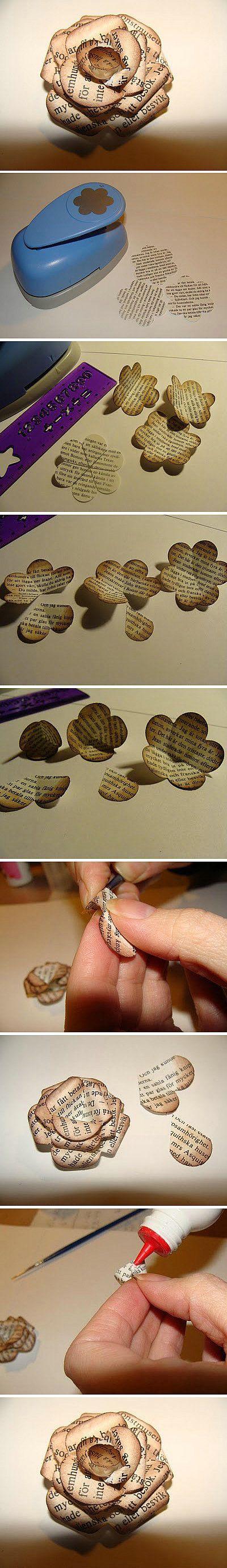 tutorial flores jornais