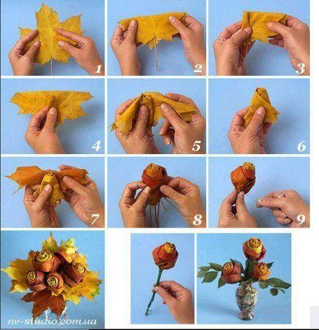 tutorial folhas rosas