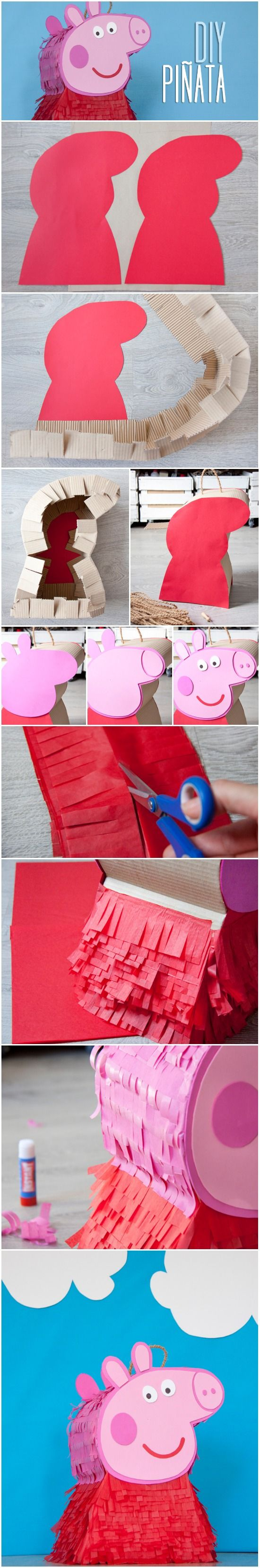 tutorial pinata peppa pig