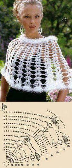 tutorial poncho crochet 4