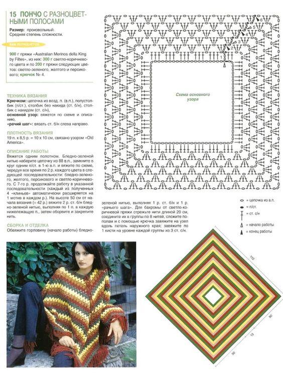 tutorial poncho crochet 6
