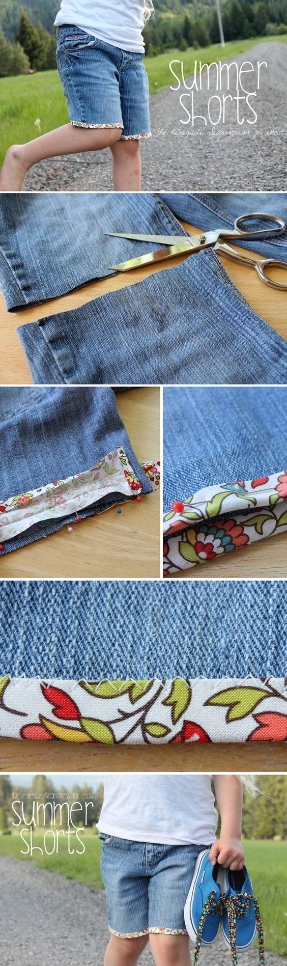tutorial transformar jeans em shorts