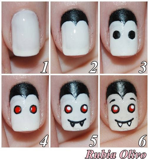 tutorial-unhas-halloween-dracula
