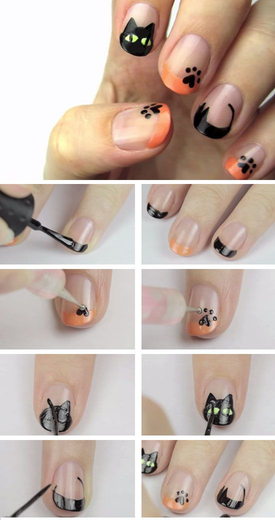 tutorial-unhas-halloween-gato-preto