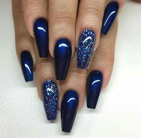 unhas decoradas azul inspiracao