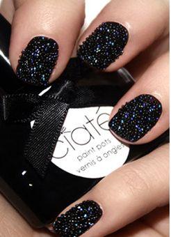 unhas decoradas caviar preta