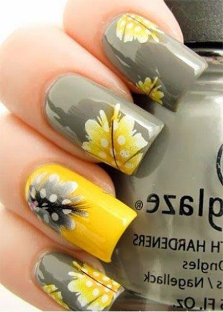 unhas decoradas com flores 14