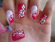 unhas decoradas com flores 5