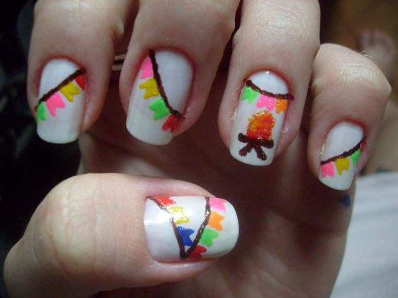 unhas decoradas festa junina 3 1