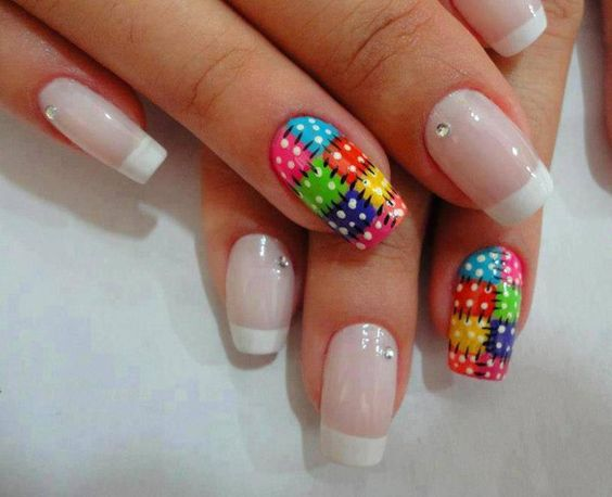 unhas decoradas festas juninas