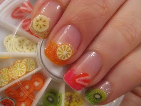 unhas decoradas frutas 1