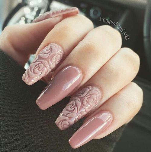 unhas decoradas rosas 1