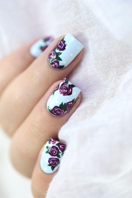 unhas decoradas rosas 4