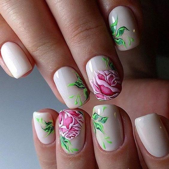 unhas decoradas rosas 6