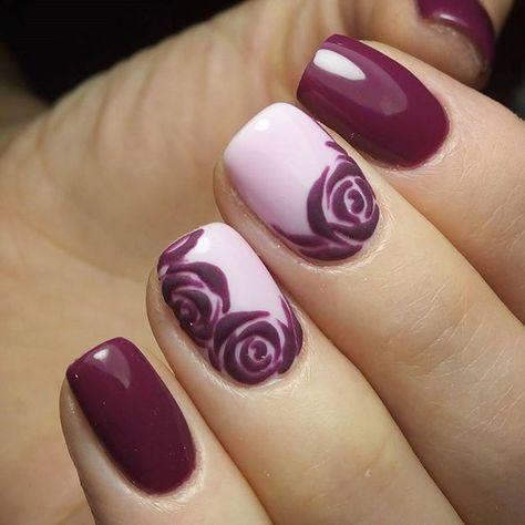 unhas decoradas rosas 7