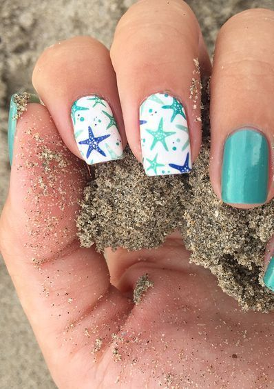 unhas decoradas tumblr criativas mar