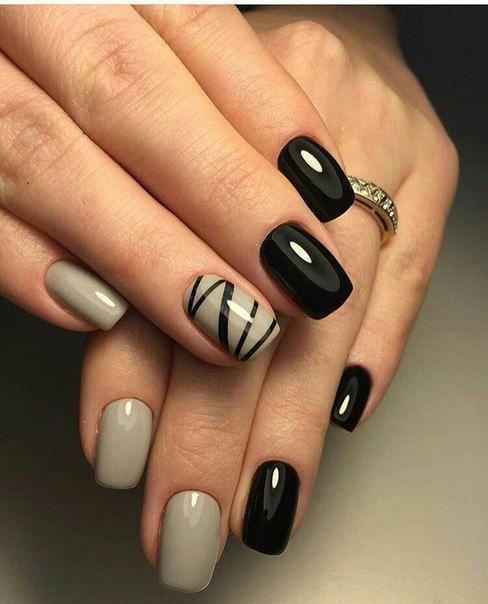 unhas decoradas tumblr pretas branco