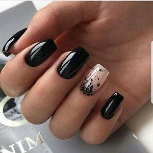 unhas decoradas tumblr pretas