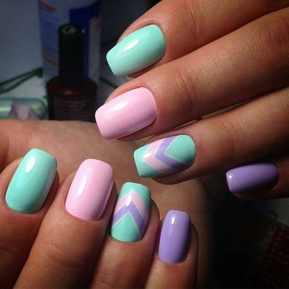 unhas decoradas tumblr simples candy