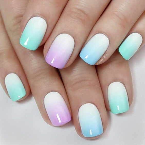 unhas decoradas tumblr simples curtas