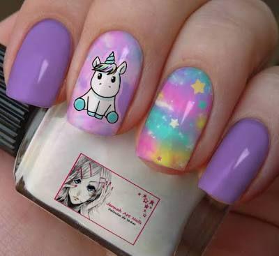 unhas decoradas unicornio 12