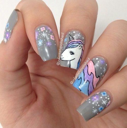 unhas decoradas unicornio 8