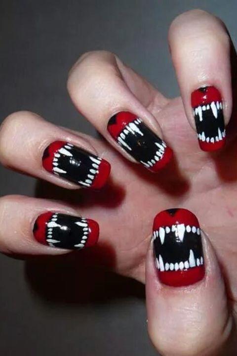 unhas halloween assustadora