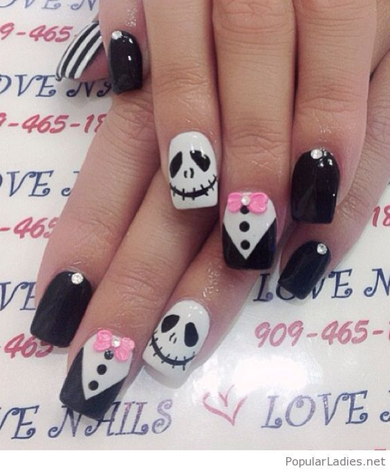 unhas halloween cut