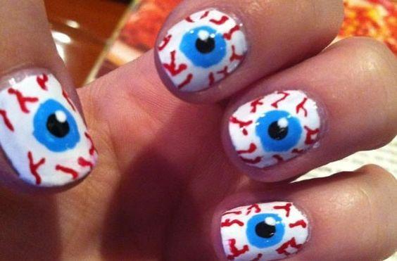 unhas halloween nails