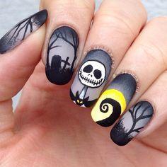 unhas halloween preta