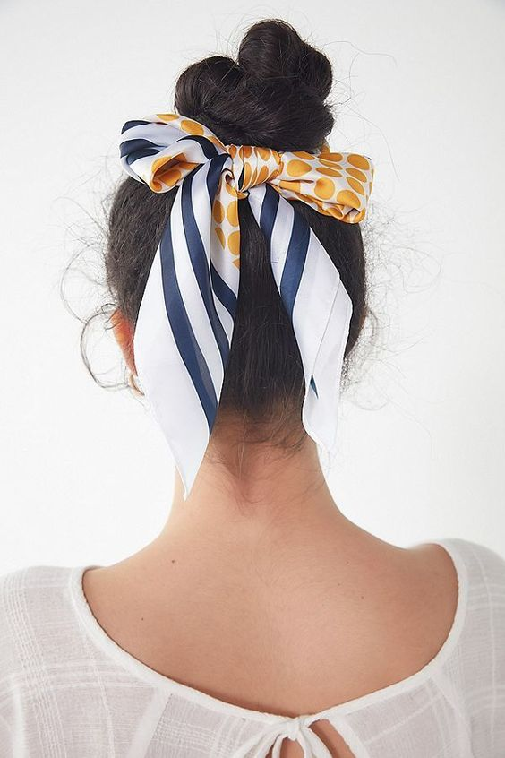 usar lenco cabelo coque