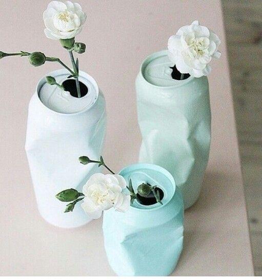 vasos flores materiais reciclados 2