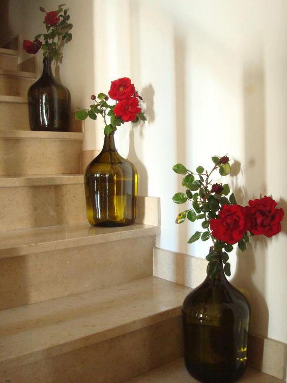 vasos flores materiais reciclados