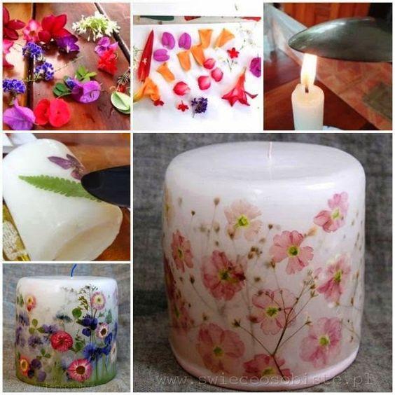 vela perfumada flores