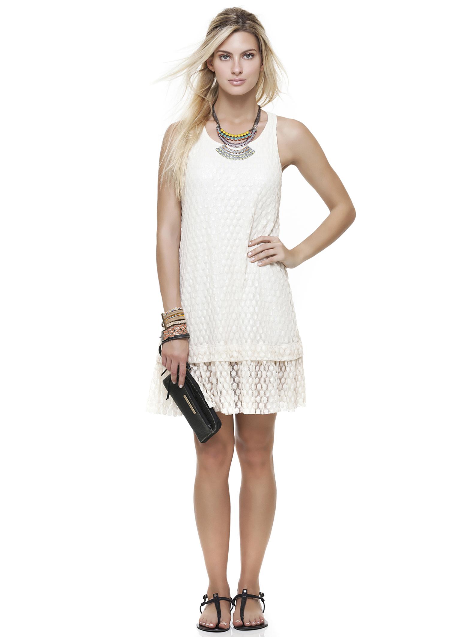 vestido barrado renda branco