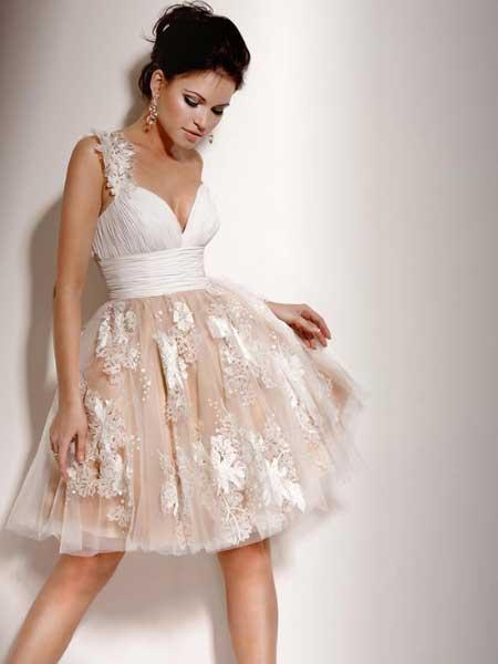 vestido cerimonia curto