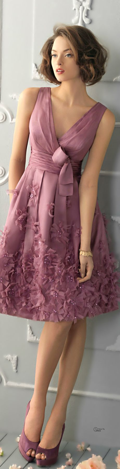 vestido cerimonia rosa