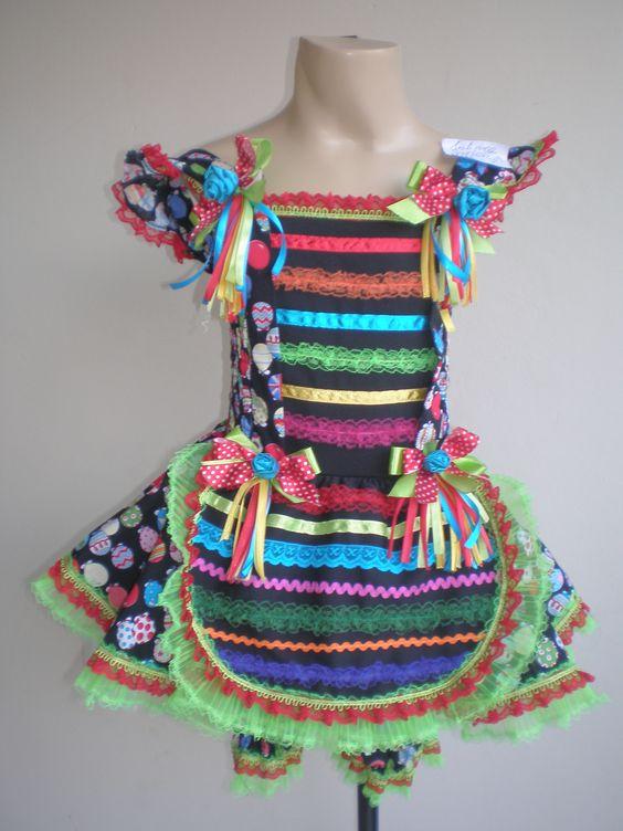 vestido criança para festa junina