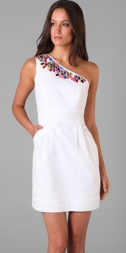 vestido de festa curto branco