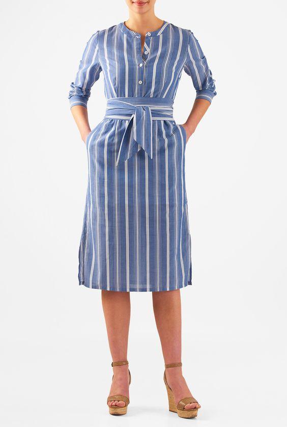 vestido evangelico azul