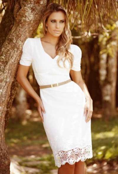 vestido evangelico branco