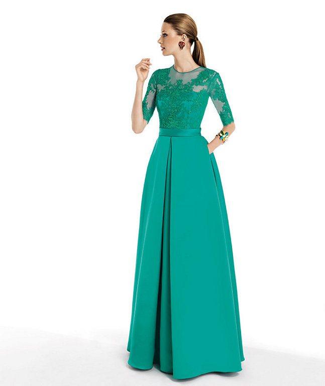 vestido evangelico longo