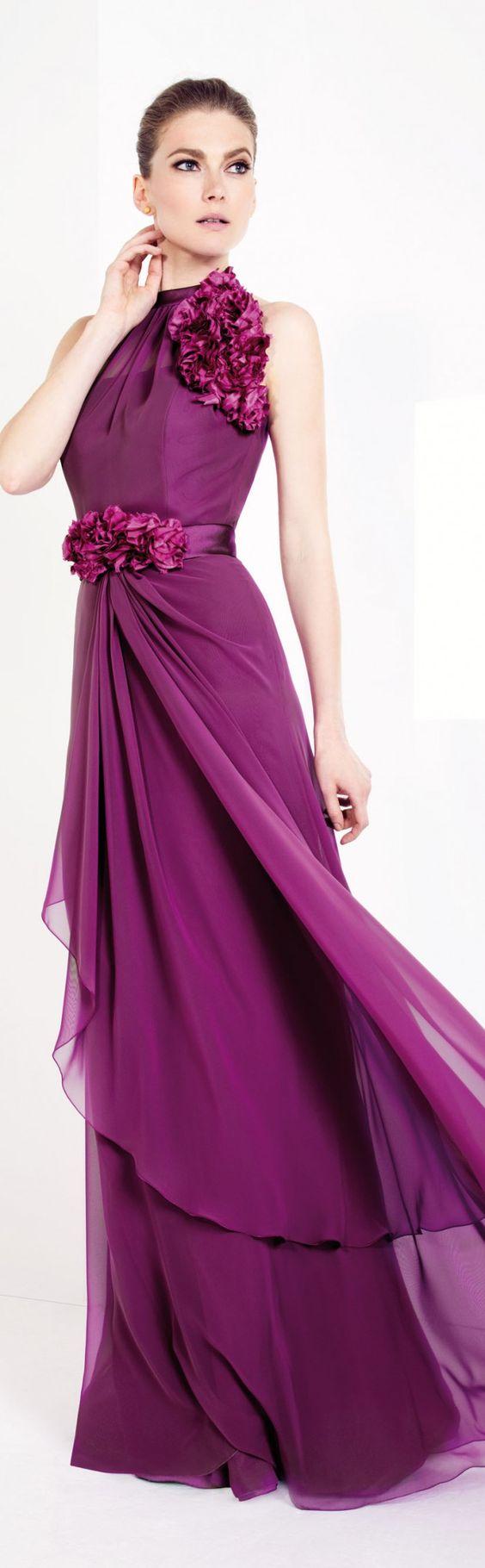 vestido gala rosa