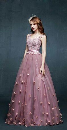 vestido longo festa rosa