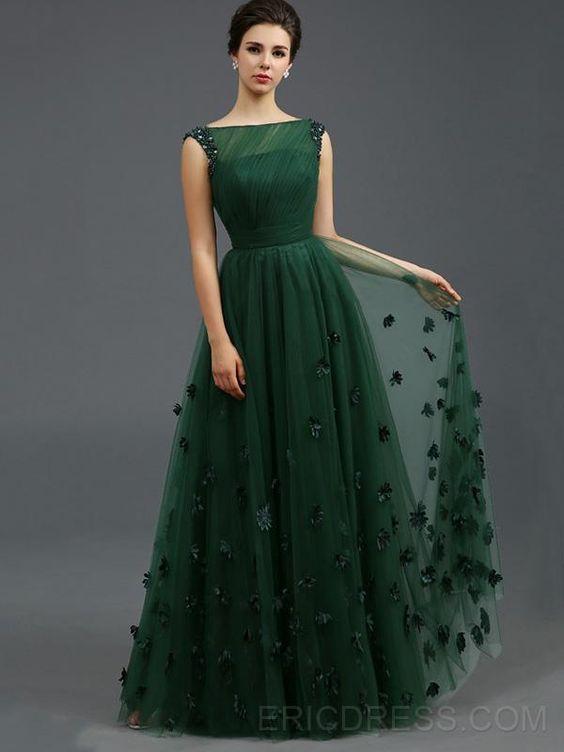 vestido longo festa verde