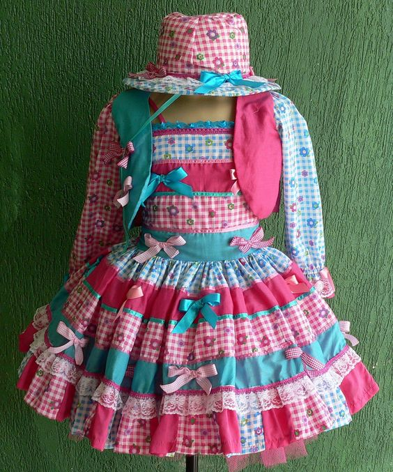 vestido menina festa junina