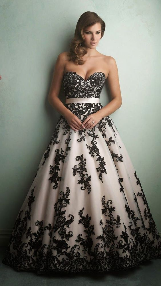 vestido noiva preto branco 2
