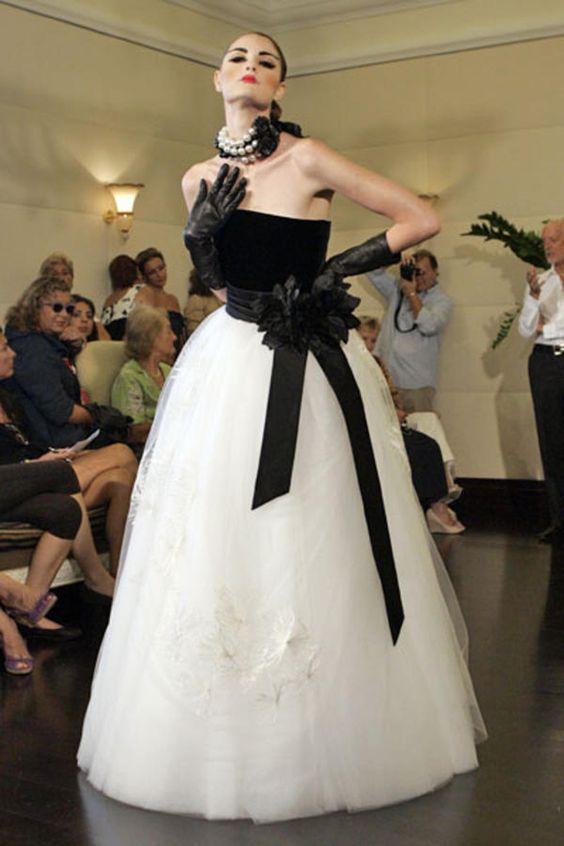 vestido noiva preto branco 4