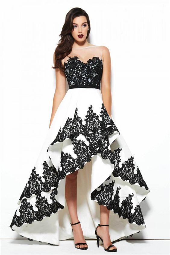 vestido noiva preto branco 7